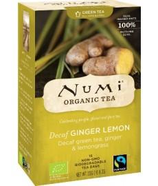 Herbata zielona bez teiny GINGER-LEMON 16 saszetek x 2 g NUMI Organic Tea