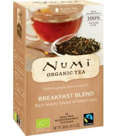 Herbata czarna BREAKFAST BLEND 18 saszetek x 2,2 g NUMI Organic Tea