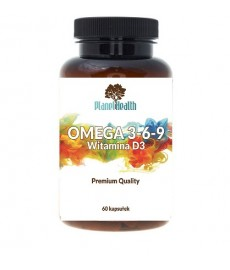 OMEGA 3-6-9 + Witamina E EPA + DHA 1000 mg 60 kaps. Planet Health