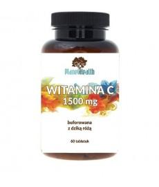 Buforowana witamina C 1500 mg lewoskrętna z dziką różą 60 tabletek Planet Health