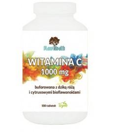 Buforowana witamina C 1000 mg lewoskrętna z dziką różą i cytrusowymi bioflawonoidami 180 tabletek Planet Health