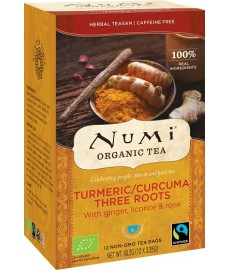 Herbata Turmeric THREE ROOTS BIO (12 saszetek) NUMI Organic Tea