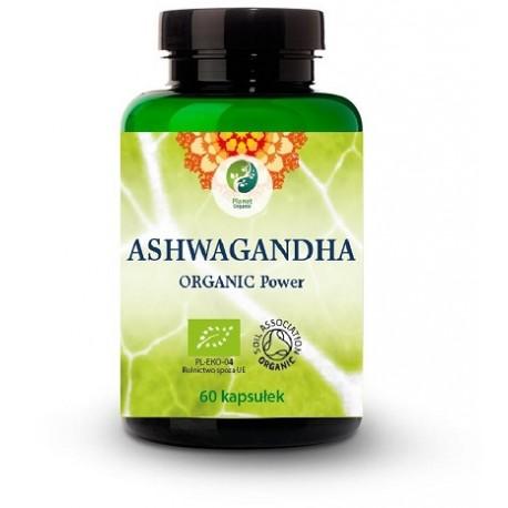 ASHWAGANDHA ( Withania Somnifera) Organic Power 60 kaps. Planet Organic