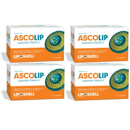 ASCOLIP LIPOSHELL® - Liposomalna Witamina C (4x 30 saszetek) Liposomal Vitamin C
