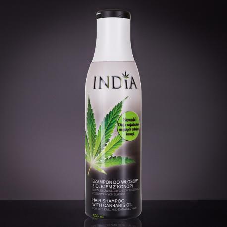 Szampon do włosów z olejem konopnym 400 ml - Kosmetyki Konopne INDIA COSMETICS