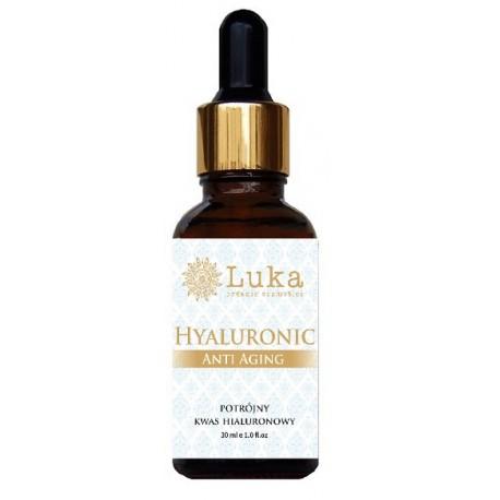 Hyaluronic Anti Aging (czysty - Potrójny kwas hialuronowy) 30 ml LUKA Organic Cosmetics