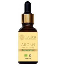 BIO Argan Palmarosa (Argania Spinosa, Cymbopogon martinii) ekologiczny olej 30 ml LUKA Organic Cosmetics