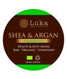 BIO masło SHEA z olejkiem arganowym i palmarosą ( 50 ml) Luka Organic Cosmetics
