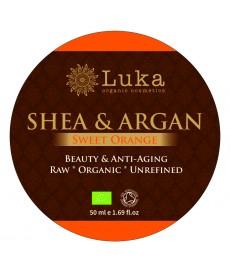 BIO masło SHEA z olejkiem arganowym i słodką pomarańczą ( 50 ml) Luka Organic Cosmetics