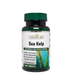 Sea Kelp 187 mg ( Kelp morski 560 mg, Jod 450µg ) Nature's Aid