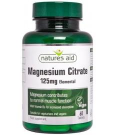 Magnez Cytrynian 125 mg + B6 5mg  (60 tabl.)  Nature's Aid