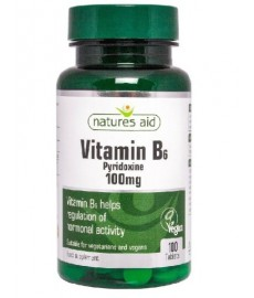 Witamina B6 100mg  (100 tabl.)  Nature's Aid